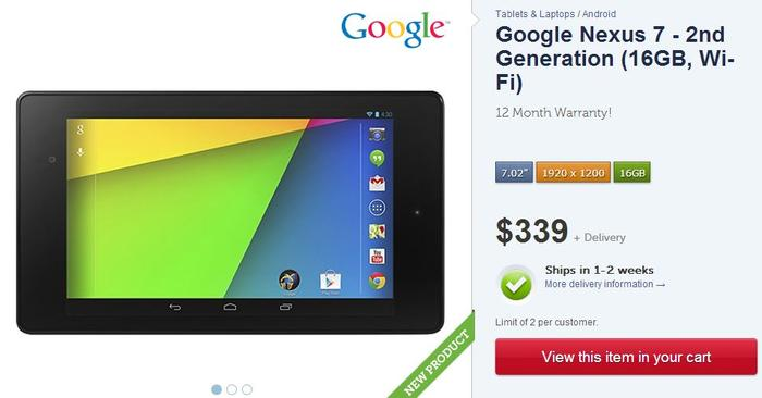 Kogan is another popular store that sells the new Nexus 7, but you'll have to wait at least a week.