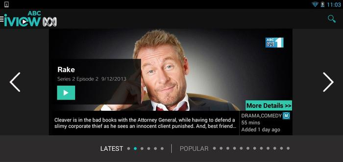 The ABC iView app for Android.