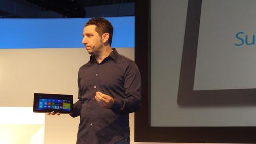 Microsoft's Panos Panay shows Surface Pro 2 at event in New York