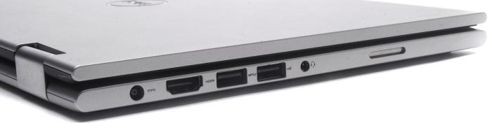 Left side: power, HDMI, USB 3.0, USB 2.0, headset.