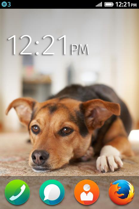 Firefox OS home screen