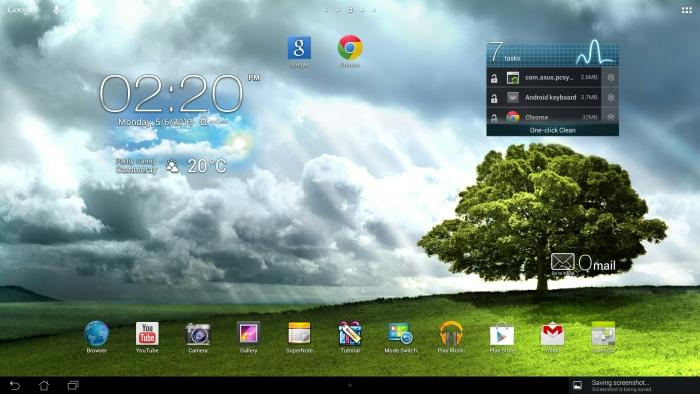 The Android interface on the 1920x1080-pixel tablet.