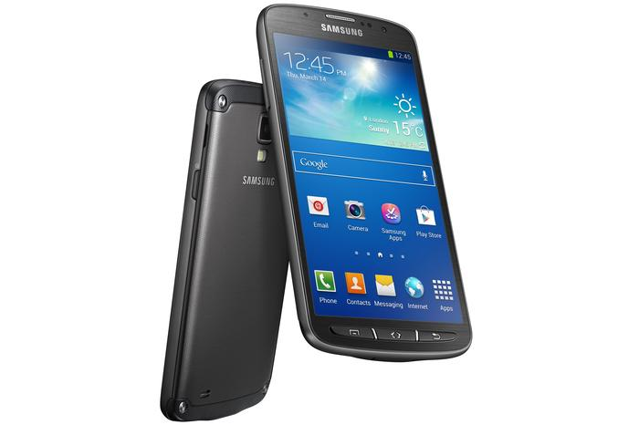 The Samsung Galaxy S4 Active Android phone.