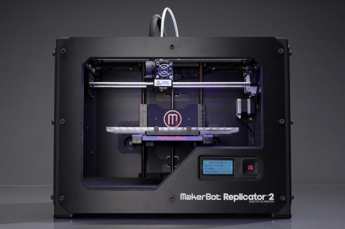 Makerbot's newest Replicator 2 3D printer.