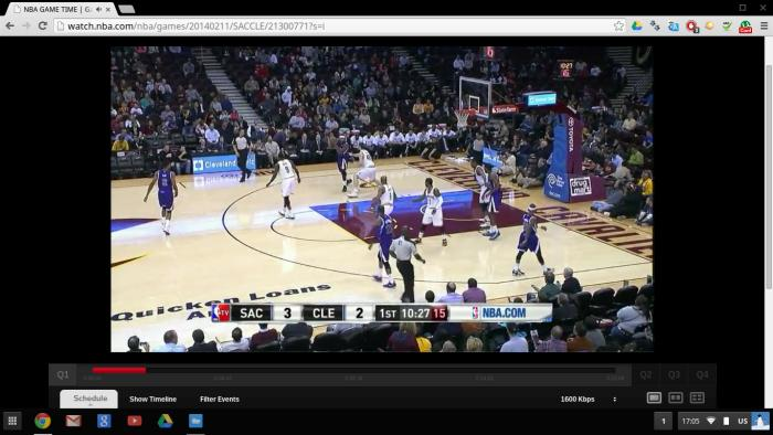 It's possible to stream video from services such as NBA League Pass, but, depending on the quality, you might notice some dropped frames.