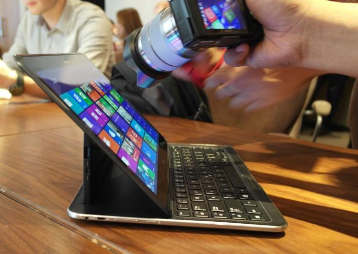 All eyes on the ATIV Q, a fourth-generation Intel Core-based hybrid that runs Windows 8 and Android Jelly Bean on the same CPU.