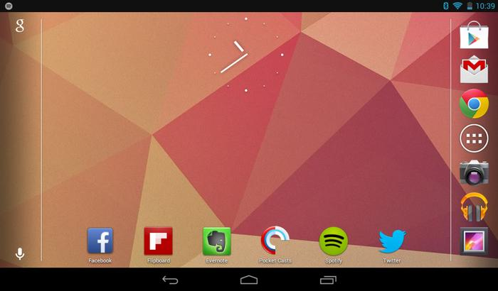 The Slate 7 runs the 4.1 Jelly Bean version of Android.
