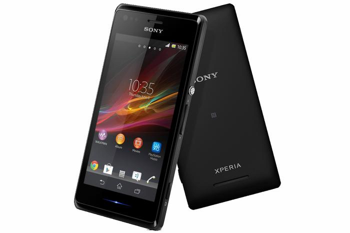 The Sony Xperia M Android phone.