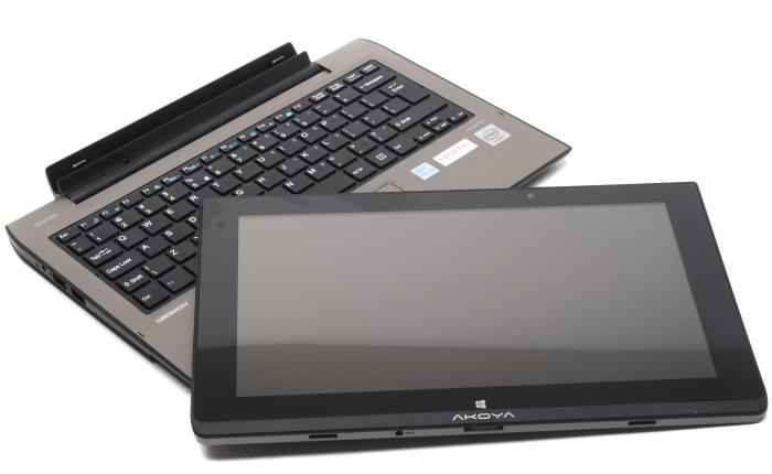 2-in-1: You can use the Akoya P2212T as a notebook, or rip it in two and use it as a tablet.