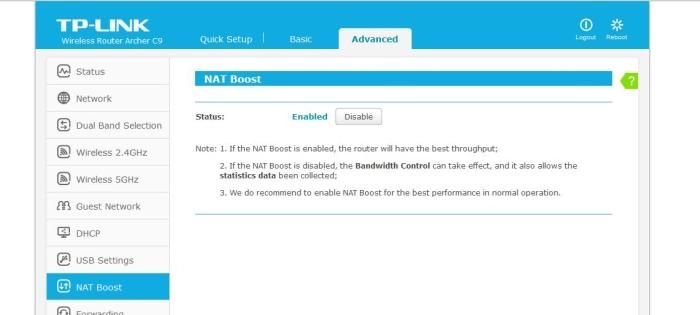 The 'NAT Boost' setting is supposed to take care of QoS without any user interaction.
