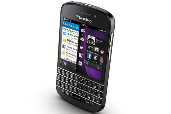 The BlackBerry Q10.