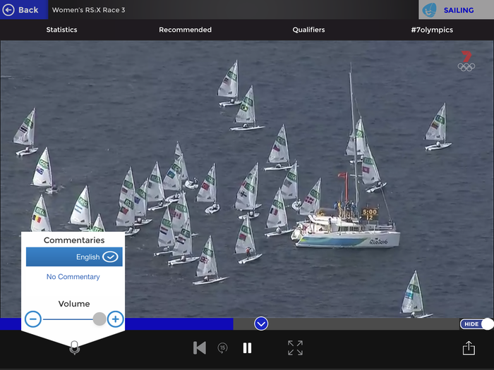 Watching sailing with no commentary is an exercise in futility.