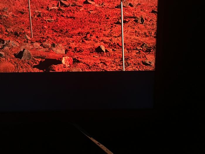 Bright reds from The Martian but virtually no bleed coming from the edges meaning contrast is excellent and letter box bars stay blacker.