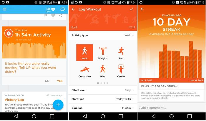 1. An individual workout; 2. Qualifying the workout; 3. It keeps track of workout streaks.