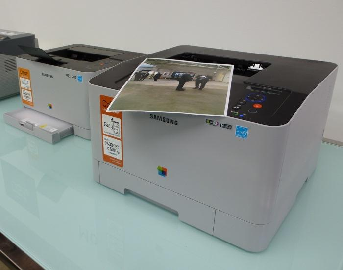 Two of Samsung's latest colour laser printers.