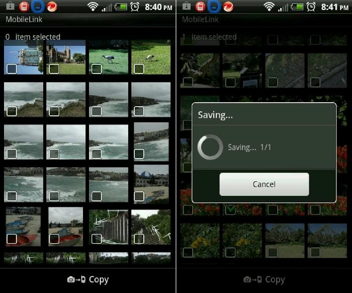 Using the MobileLink app to transfer images from the camera to our smartphone directly.