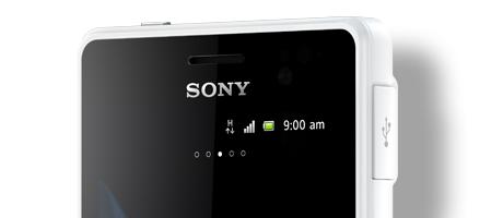 "The Xperia go measures less than 10mm thick and Sony says it proves that rugged phones ""don't need to be thick or ugly anymore""."