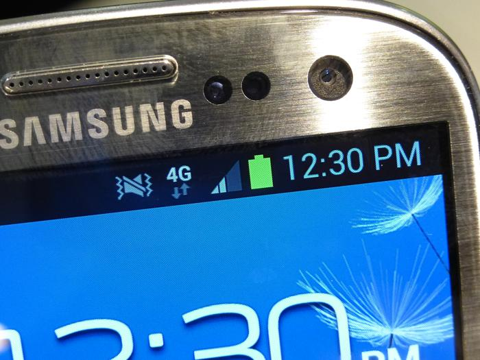 The Samsung Galaxy S III 4G had between two and four full bars of Optus 4G reception during our tests.