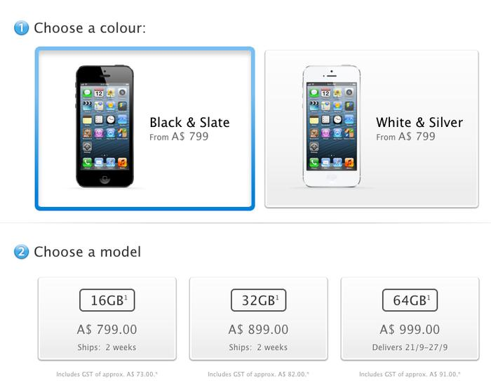 The iPhone 5 is available to pre-order now through Apple's online store.