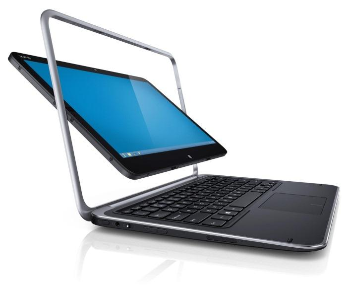Dell's XPS Duo 12 hybrid device has a screen that flips, which turns the Ultrabook into a tablet.