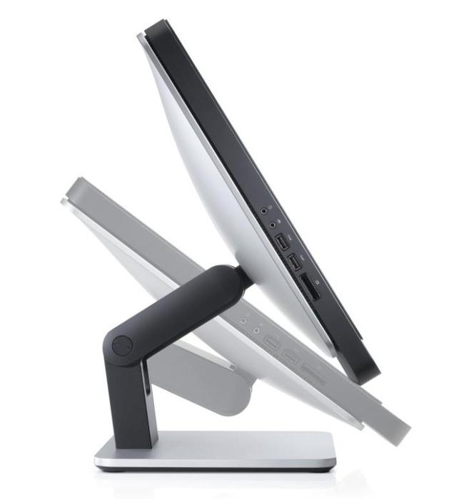 Dell's all-in-one Optiplex 9010 machine has a hinge that can make the screen lie flat.