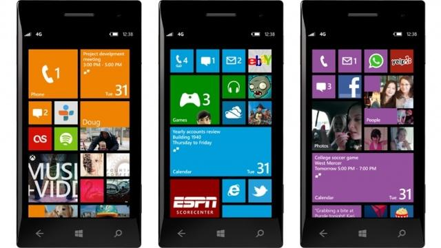 Windows Phone 8 will introduce a revamped home screen with small, medium and large tiles.