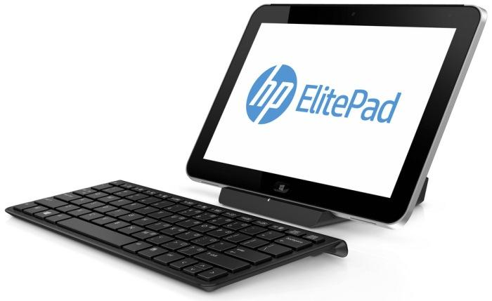 ElitePad 900 docked with a keyboard.