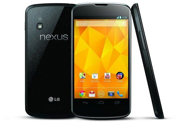 A distinctive design highlight of the Nexus 4 appears to be an etched panel of glass on the back that sparkles.