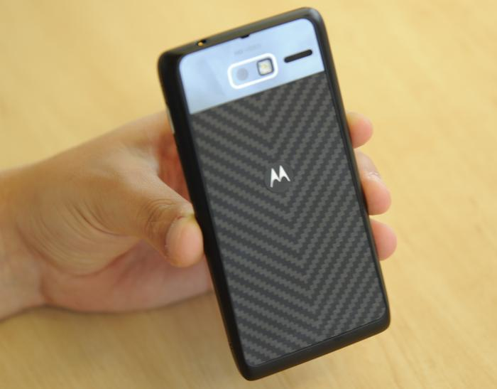 The RAZR M has a Kevlar fibre backing that Motorola says makes it sturdier than most other smartphones.