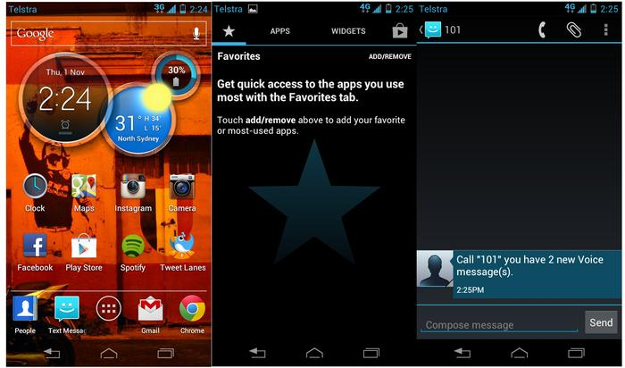 Motorola has simplified the user interface of the RAZR M.