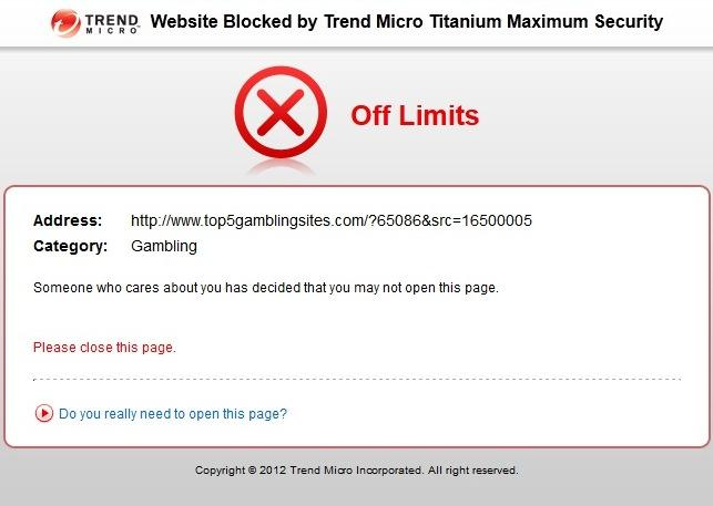 When filtering is enabled, flagged sites will be blocked.