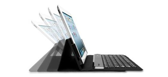 The KeyFolio Expert allows you to position your iPad at a number of different angles.