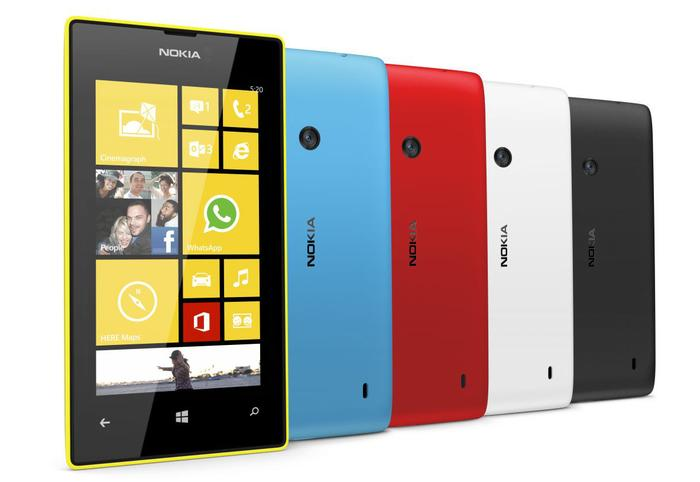 The Nokia Lumia 520 comes in five bright colours and users can purchase optional snap-on covers.