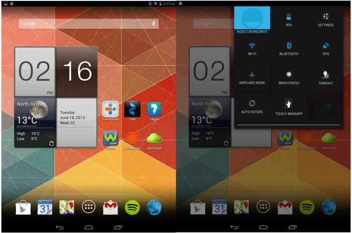 The look and feel of the Iconia A1-810's software is very similar to the Google Nexus 7.