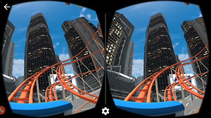 There are many virtual roller coaster rides out there and they'll only get more elaborate and shocking. (Source: VR Roller Coaster.)