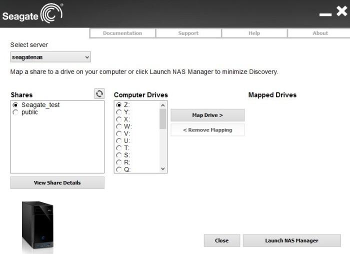 Drive mapping is easy using the supplied Discovery utility.