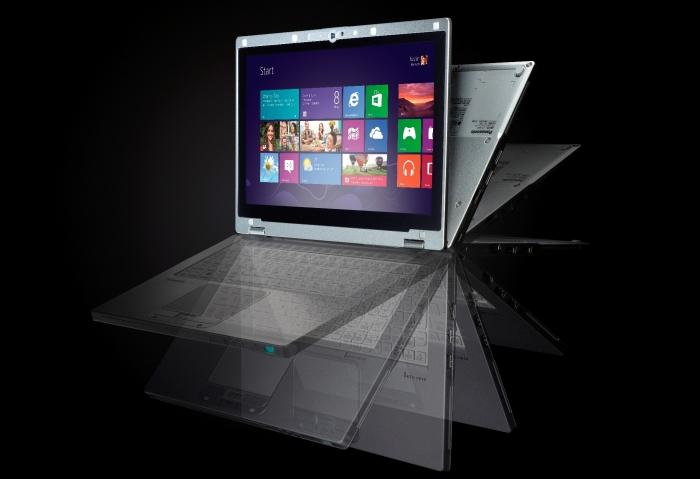 Its screen can swing all the way around, turning the laptop into a tablet.