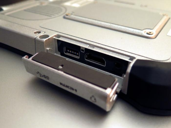 The ports on the right side include USB 3.0, full-sized HDMI, and a headset jack.
