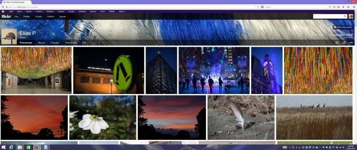 A Flickr page as displayed on the LG ultra-widescreen monitor.