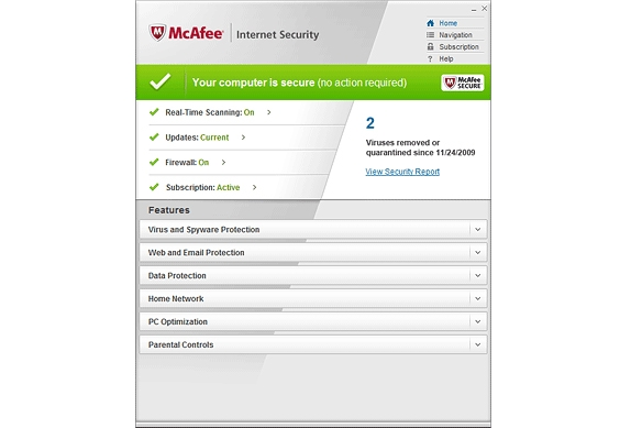 McAfee Australia Internet Security 2011