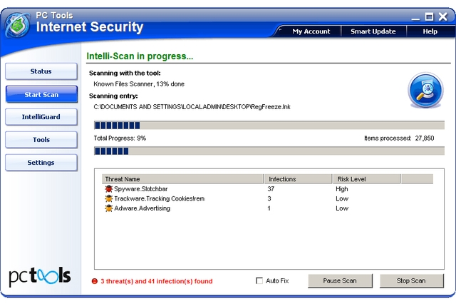 PC Tools Internet Security 2011