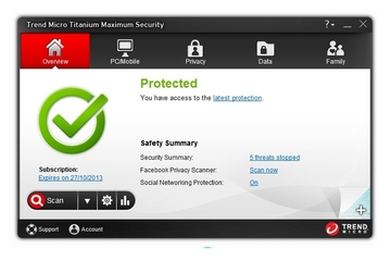Trend Micro Australia Titanium Maximum Security 2013 suite