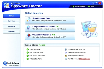 PC Tools Spyware Doctor 5.0