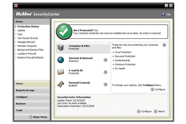 McAfee Australia Total Protection 2008