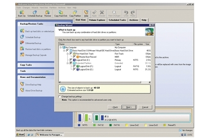 Paragon Software Drive Backup 8.5