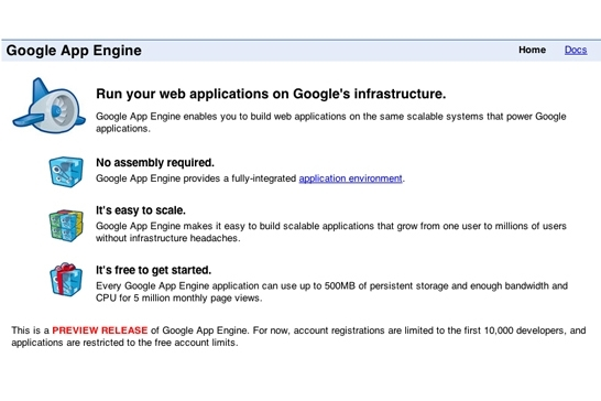 Google App Engine beta