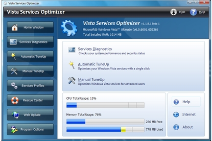 Smart PC Utilities Vista Services Optimizer