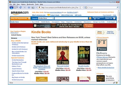 Amazon Web Services Kindle for PC