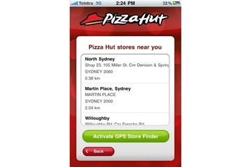 Pizza Hut iPhone app