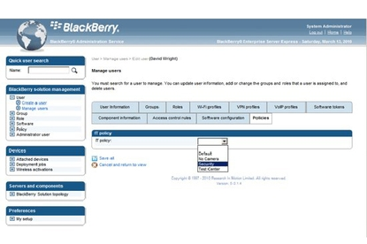 BlackBerry Enterprise Server 5